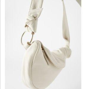 NWT Zara Leather Cross Body Belt Bag